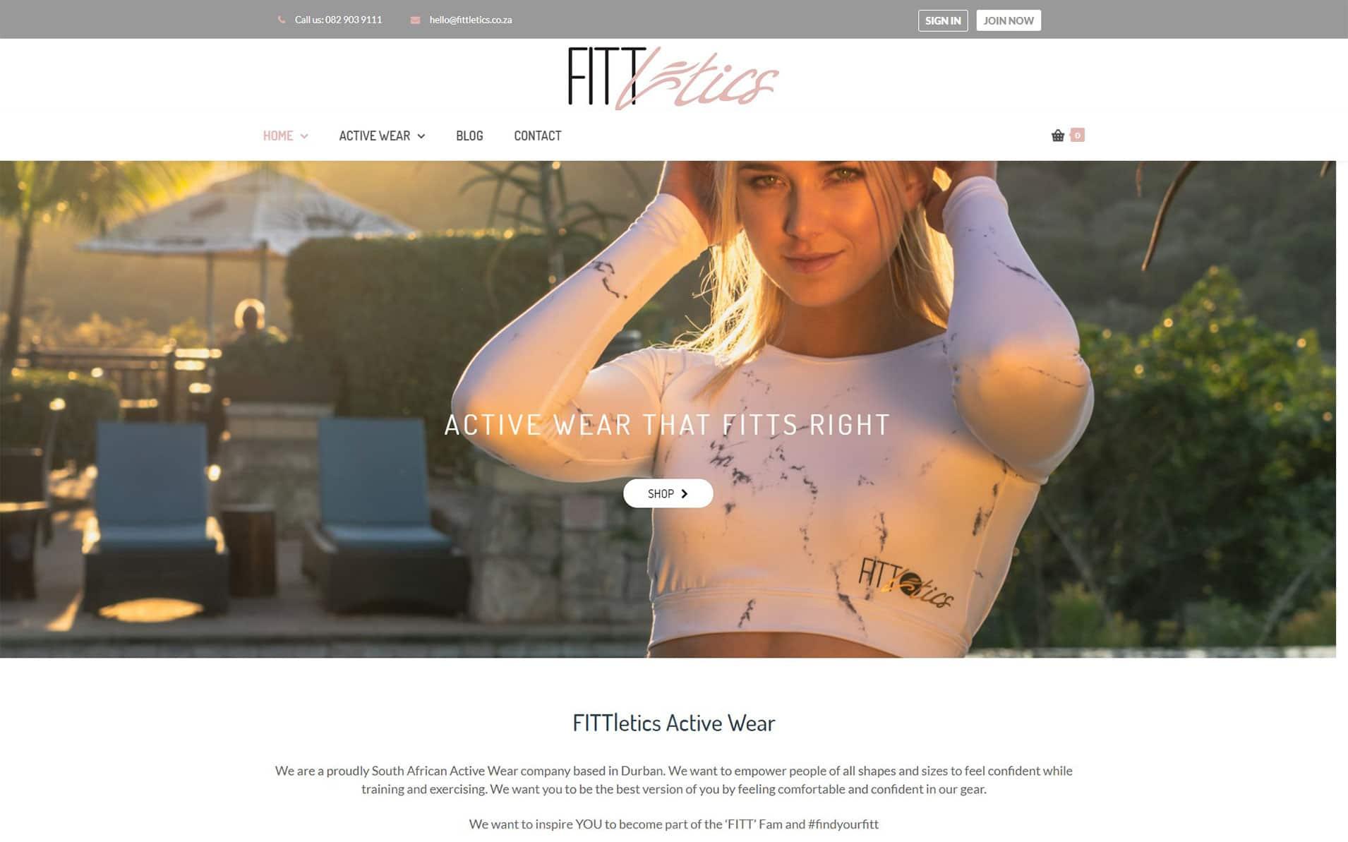 Fittletics active wear